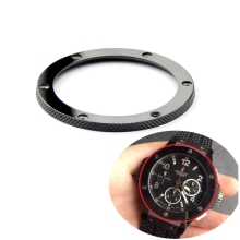 High quality luxury black bright ceramic watch bezel crown for big bang and CLASSIC FUSION 44mm 45mm 39mm watch Accessories