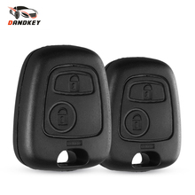 Dandkey Auto Car 2 Button For Peugeot Remote Control Key Fob Case Shell For Toyota AYGO Accessories For Citroen No blade No logo