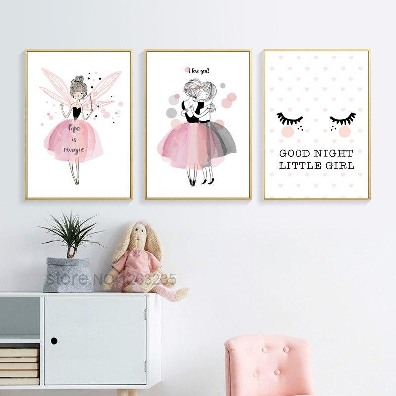 Nordic Babykamer Poster Cute Baby Girl Room Decor Cuadros Decoracion Salon Girls Canvas Art Painting Posters Nordic Babykamer Poster Cute Baby Girl Room Decor Cuadros Decoracion Salon Girls Canvas Art Painting Posters And Prints Unframed