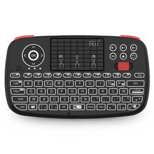 Rii i4 Mini Bluetooth Keyboard Wireless AZERTY French Keyboard with Backlit Keypad,Touchpad for Apple iOS/Android/Window цена 2017