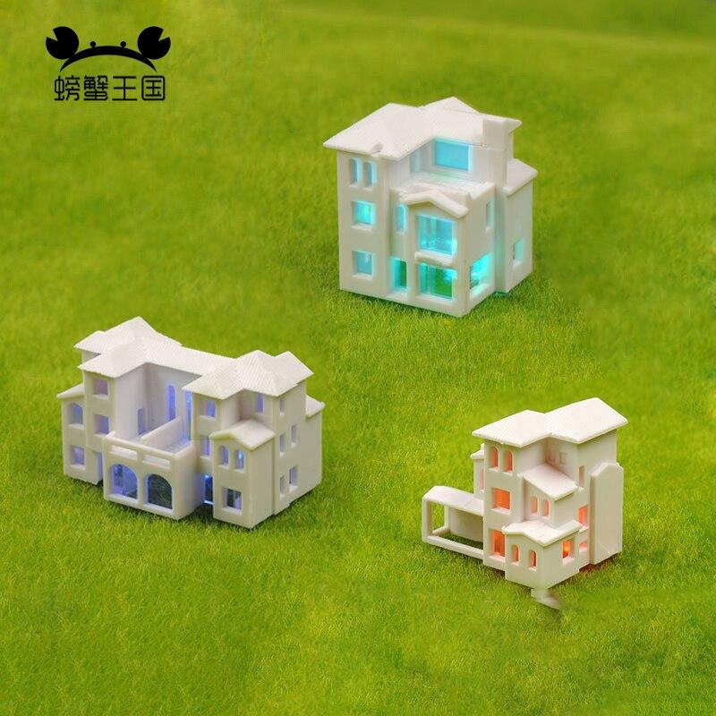 1/500 1/800 DIY modelo de edificios villa tren escena modelo haciendo materiales plásticos bienes raíces HO kits de tren