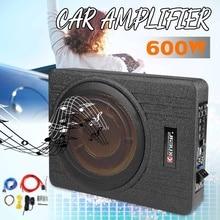 10 Inch 600W Car Super Slim Active Subwoofer Under Seat Sub Amplifier Car Subwoofers Active Subwoofer Car Speaker