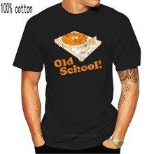 Camisa de t dos homens da plataforma giratória da velha escola engraçado vintage personalizado masculino tshirt