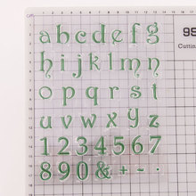 Lower Case Letters Clear Stamps Seals for DIY Scrapbooking Card Digital Rubber Making Photo Album Crafts Decor