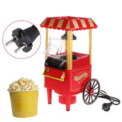 EU Plug 220V Useful Vintage Retro Electric Popcorn Popper Machine Home Party Tool