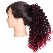 MUMUPI synthetic ponytails Drawstring Afro Short Kinky Curly Ponytail  Hair pony extensions brown For African American