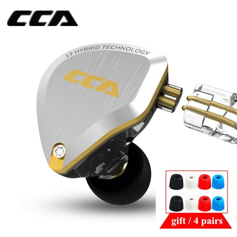 Металлические гибридные наушники CCA C12 5BA 1DD, наушники-вкладыши HIFI с басами, гарнитура, наушники-вкладыши с шумоподавлением CA16 C10 C16 ZSX VX T2