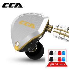 Cca c12 5ba 1dd híbrido metal fone de ouvido alta fidelidade graves fones de ouvido no monitor com cancelamento ruído ca16 c10 c16 zsx vx t2