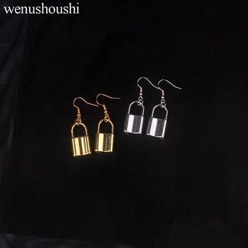 2,5*1,4 cm hiphop rock candado pendientes para mujeres aleación libre de plomo y níquel chapado punk accesorio de candado pendiente brincos 2020 joyería