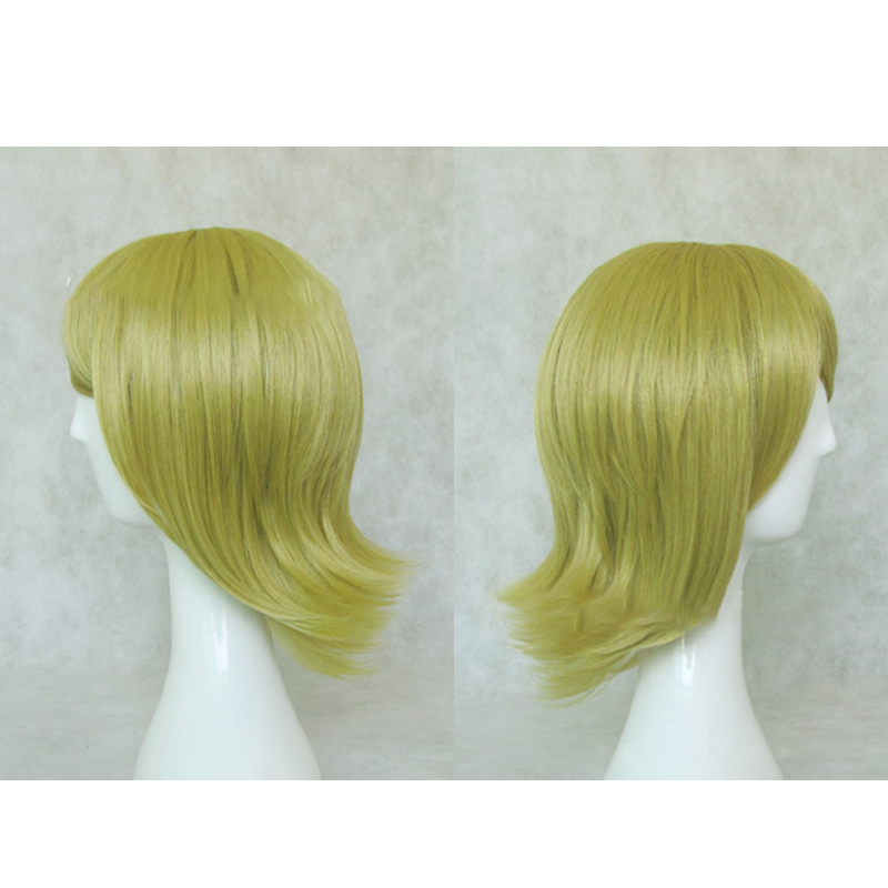 HAIRJOY Synthetic Hair Short Blonde Vocaloid Kagamine Rin Cosplay Wig High Temperature Fiber Free Shipping 3 Colors Available in Synthetic None Lace Wigs from Hair Extensions Wigs