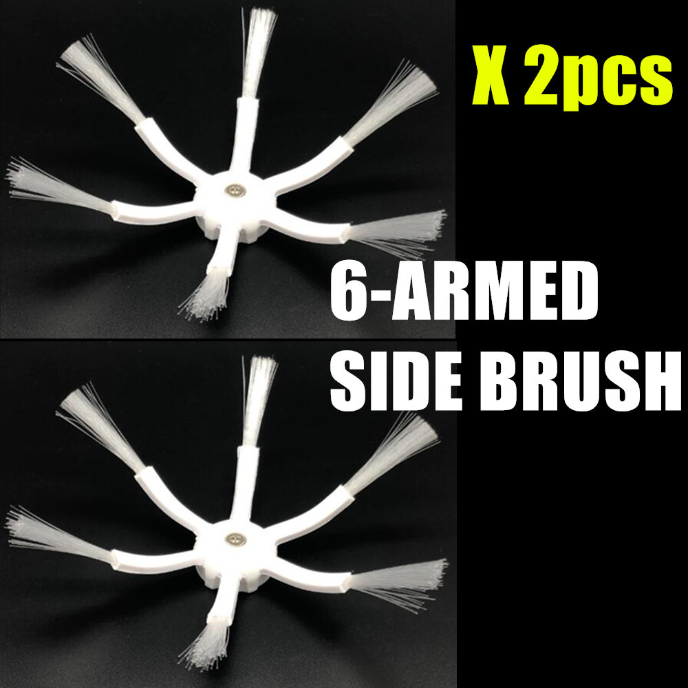 2Pcs 6 Arms Side Brushes For Xiaomi/Roborock S50 S51 S55 Robot Vacuum Cleaner Brushes Parts Accessories Side Brush