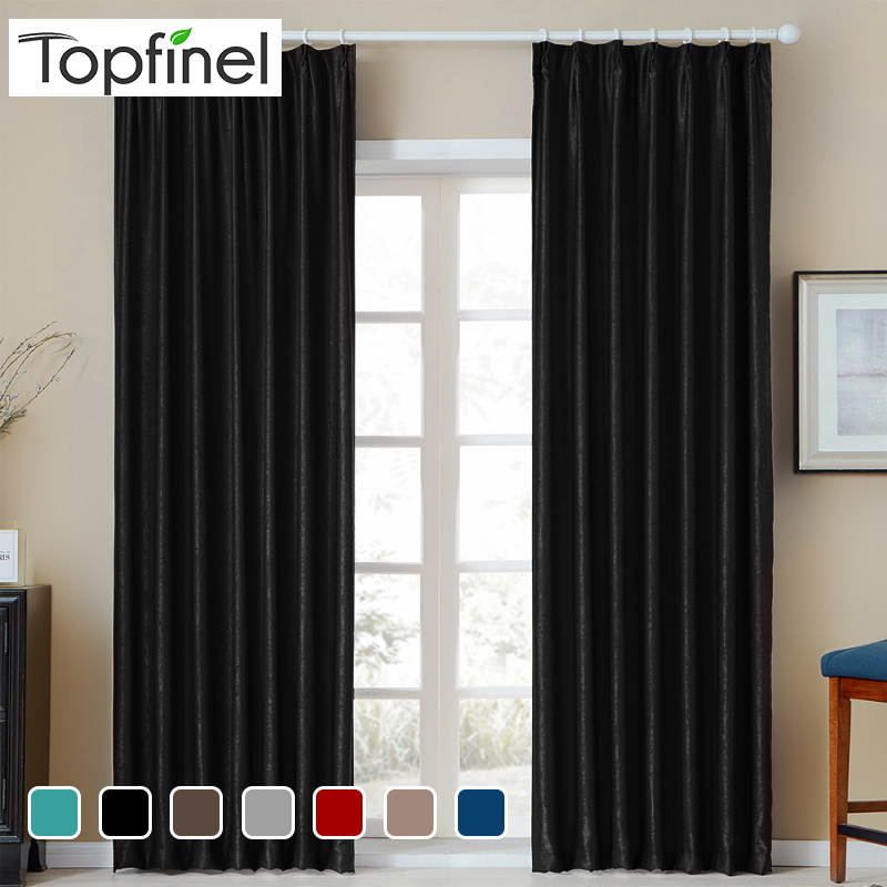 Topfinel Solid Velvet Blackout Curtains For Living Room Bedroom Soft Comfortable Curtains Warm Night Modern Diverse Colors