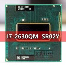 Intel core I7-2630QM sr02y processador i7 2630qm notebook portátil cpu soquete g2 rpga988b adequado para hm65 75 76 77 chipset portátil