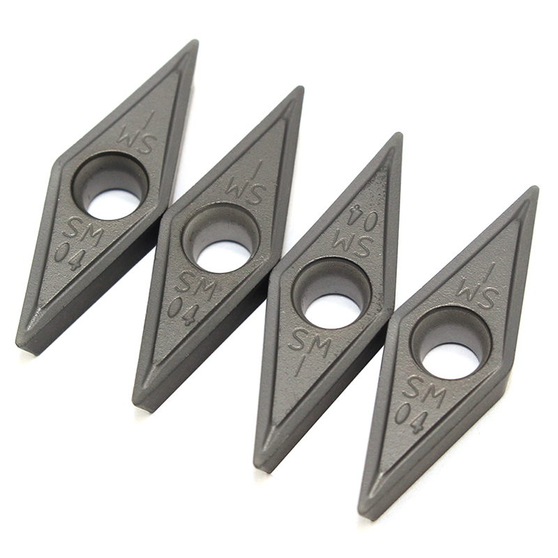 VCMT160404 SM IC907 908 Tungsten Carbide Internal Turning Tool Blade Carbide Insert Lathe Tools <font><b>VCMT</b></font> <font><b>160404</b></font> Turning Inserts image