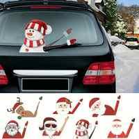 Christmas Rear Windshield Santa Claus Window Decals Car Wiper Sticker Xmas 2019 Decoration Sticker