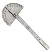 Angle-Finder Protractor 1pcs Goniometer-Tool Stationery Arm-Measuring Round-Head Stainless-Steel