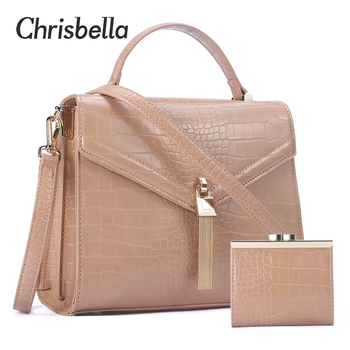 CHRISBELLA Fashion Women Handbags Leather Shoulder Bags Mini Purse Bag Set Large Capacity PU Leather Crossbody Bag Female Bolsos women bag big capacity female color blocking handbag fashion shoulder bag purse ladies pu leather crossbody bag