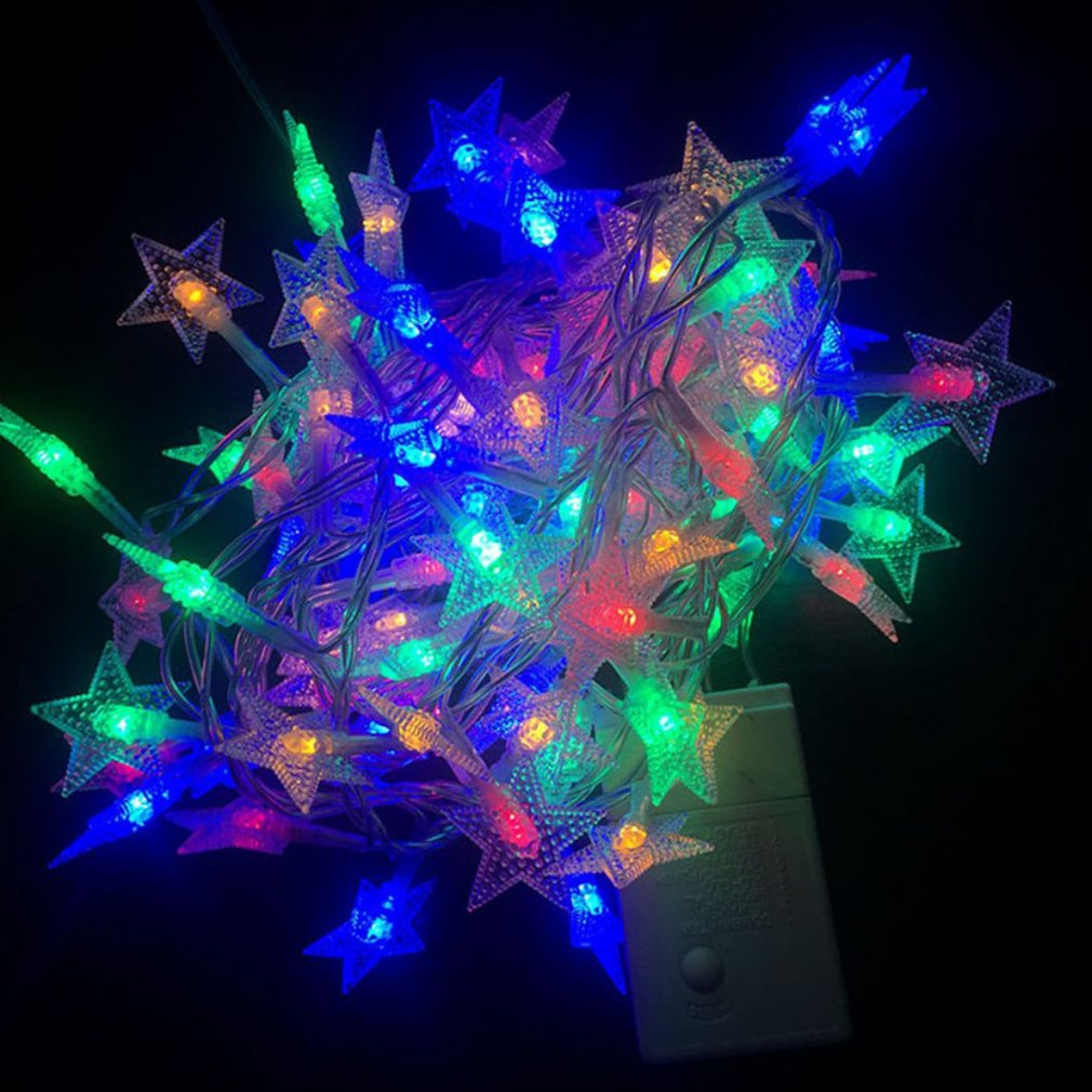 Christmas Tree Star Flakes Led String Fairy Light Xmas Party Home Wedding Garden Garland Christmas Decorations Colorful