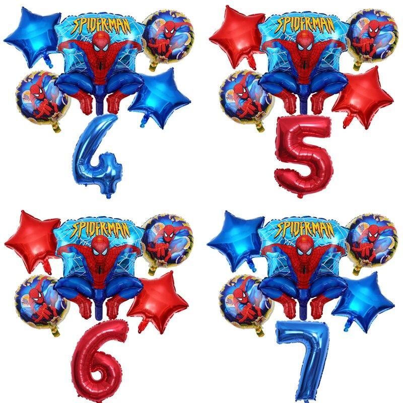 1 комплект шары с изображениями Человека-паука 32 дюйма количество супер герой вечерние надувные гелием День рождения вечерние украшения де...