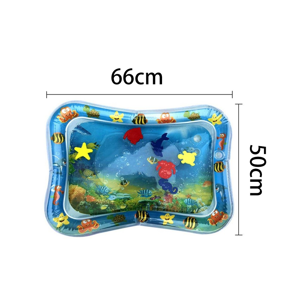 H5ce885f6193e45de9f5b33ba44d26648L Baby Kids Water Play Mat Toys Inflatable PVC infant Tummy Time Playmat Toddler Activity Play Center Water Mat Dropshipping