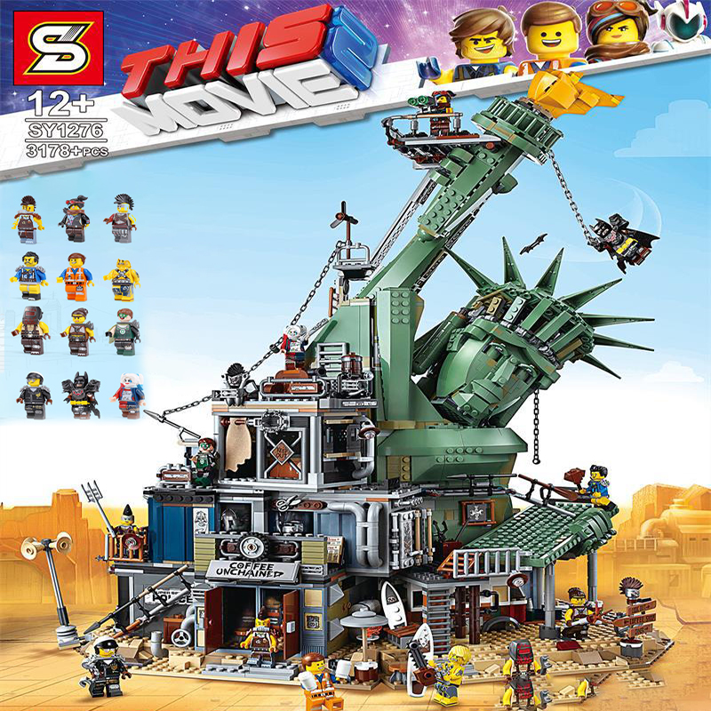 Movie Welcome to Apocalypseburg Statue of Liberty Model APOCALYPSEBURG Building Blocks Bricks legoingLYs <font><b>70840</b></font> 45014 Christmas Birthday gift toys image