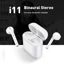TWS 5.0 i11 Touch Noise Reduction Bluetooth Headset Single Headphone Low Power Comfortable Sweatproof Wireless