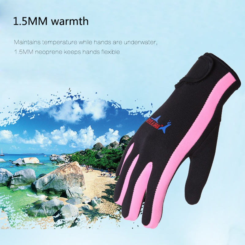 Swimming & Diving Gloves Women Men 1.5mm Neoprene Swimming Diving Gloves Anti-slip Warm Swimming Snorkeling Surfing Gloves