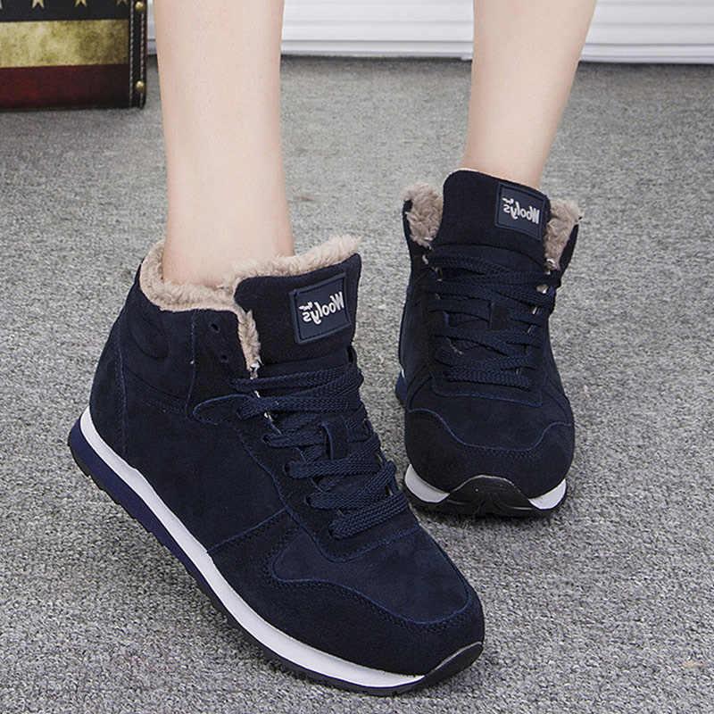 Ankle Boots Para Mulheres 2019 Nova Mulheres Botas De Pelúcia Sapatos Adultos Sapatos de Inverno Botas Quentes Sapatos de Inverno As Sapatilhas Das Mulheres Para As Mulheres plus Size