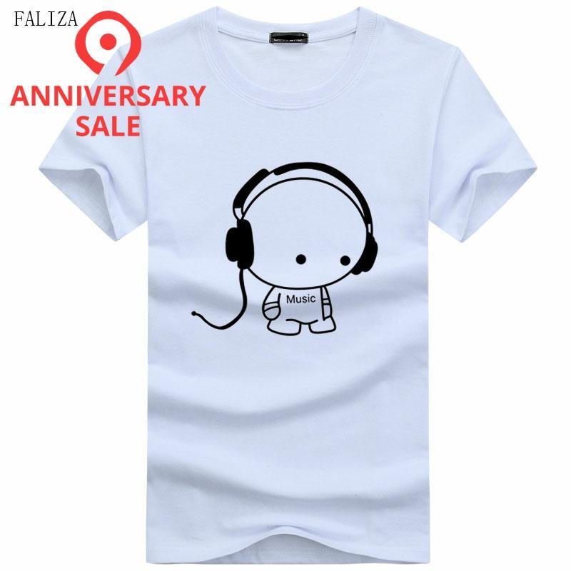 Men T-Shirts Top Quality T-Shirts Fashion DJ Carton Boy Character Printed Summer Shirts Hip Hop Short Sleeve Tees Plus 5XL TX111