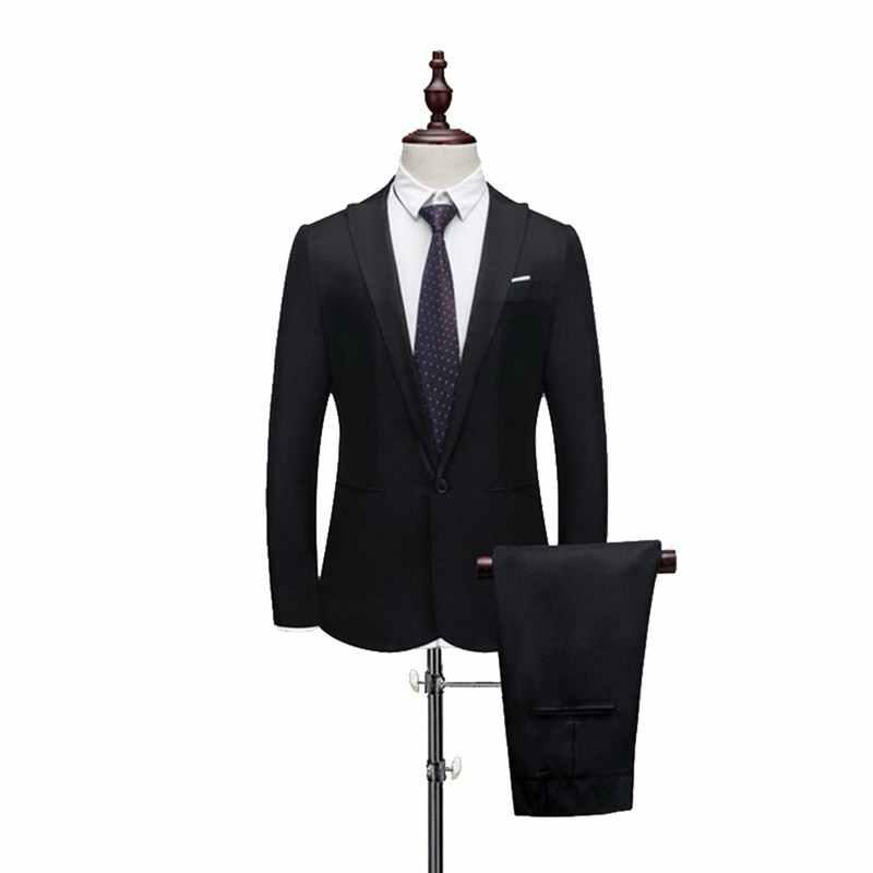 SHUJIN Maschio vestito da Cerimonia Nuziale Vestito Da Promenade Verde Slim Fit Smoking Gli Uomini di Affari Formale di Usura del Lavoro Vestiti 2Pcs Set (Jacket + pantaloni)
