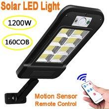 Remote-Control-Lamp Wall-Light Motion-Sensor Solar Led Garden Security Smart Outdoor