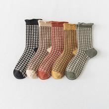 Students Checked Crew Sock Ladies Plaid Thick Winter Socks G