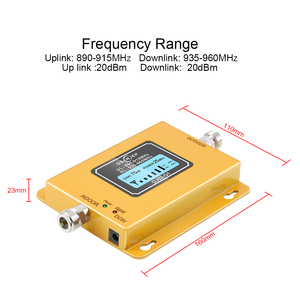 Image 2 - Cost effective  LCD Display GSM 900MHz Signal Repeater GSM Signal Booster 20dbm LCD Display Cell Phone Signal Booster Amplifier