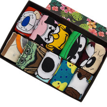 10 Pairs/Pack Men Woman Fashion Cartoon Rabbit Funny Socks Casual Hip Hop Creative Soft Comfortable Novelty Skateboard Socks