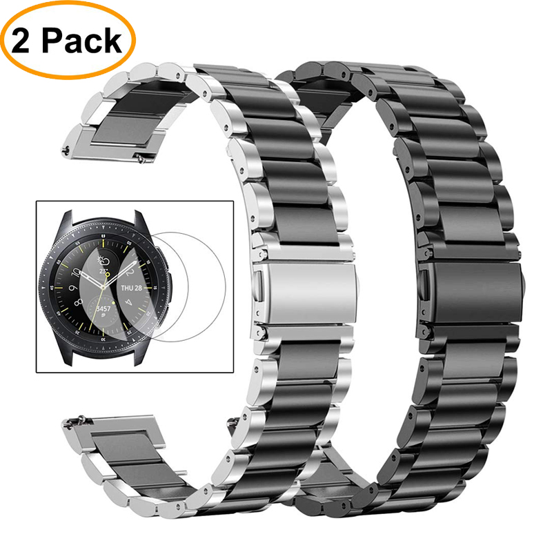 Huawei Watch Gt Strap For Samsung Galaxy Watch Band 46mm Active S3 Frontier/Classic Watchband Metal Bracelet Belt +film+tool