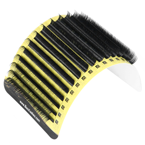 Image 5 - fast shipping 16 Lines Cashmere Flat Lashes Split tips, Natural Ellipse Flat Eyelash Extension Full Matte Lash Extensions