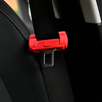 Klamra pasa bezpieczeństwa pokrywa Protector dekoracja wnętrz dla Smart 453 451 fortwo forfour uniwersalne akcesoria samochodowe tanie i dobre opinie 0inch Silicone Pasy bezpieczeństwa i wyściółka seat belt buckle cover