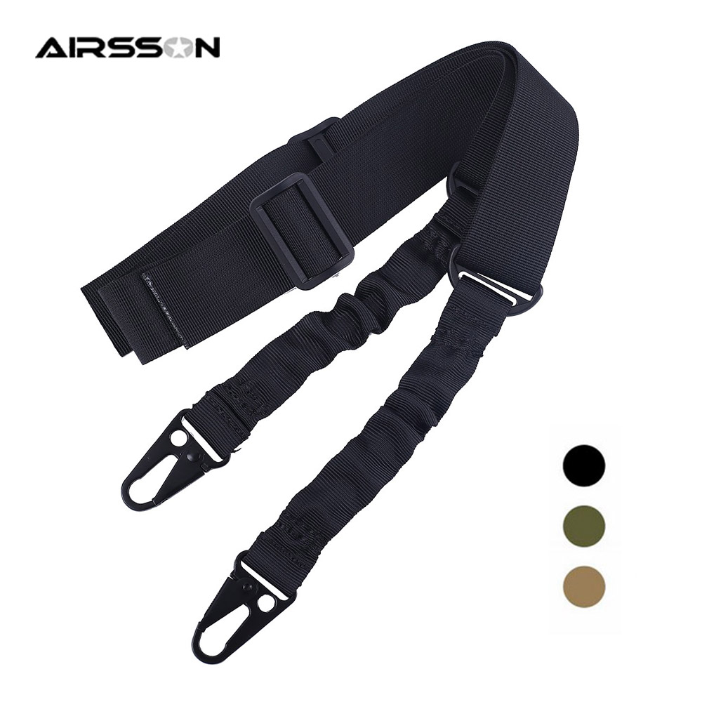 Hunting Rifle 2 Point Sling Shoulder Pad Strap with Mil-Spec Swivels Bungee