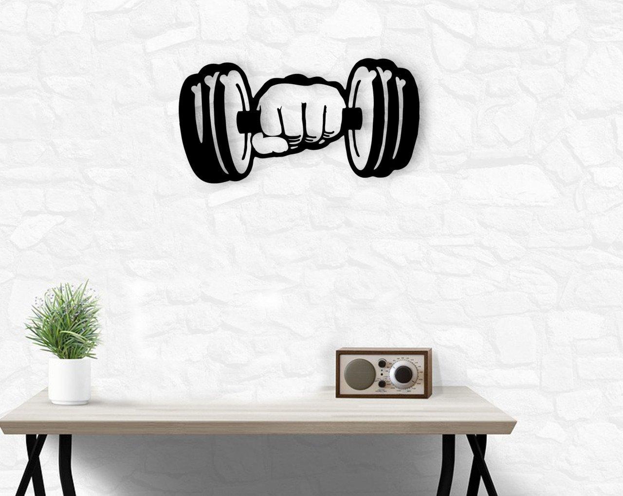 BK Home Dumble Wood Wall Decoration Modern Convenient Reliable Decoration Gift Quality Design Simple Cool Black Color