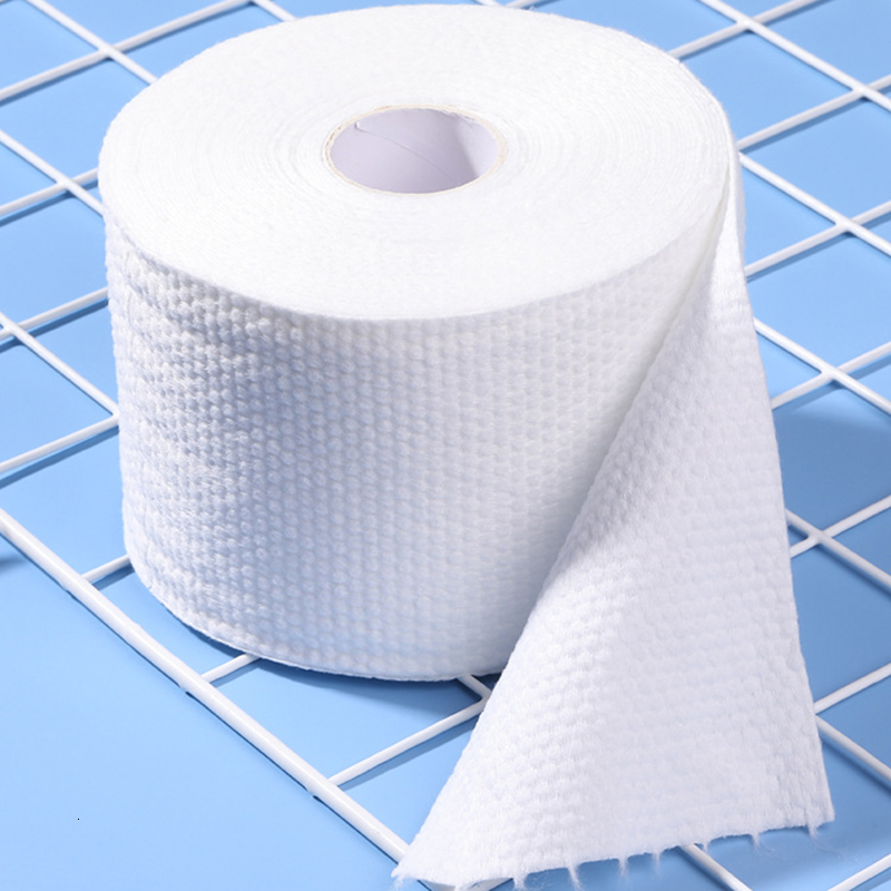 Disposable Face Towel Cleansing Towel Roll Pearl Pattern Portable Cotton Wipe Face Beauty Facial Wash Face Paper