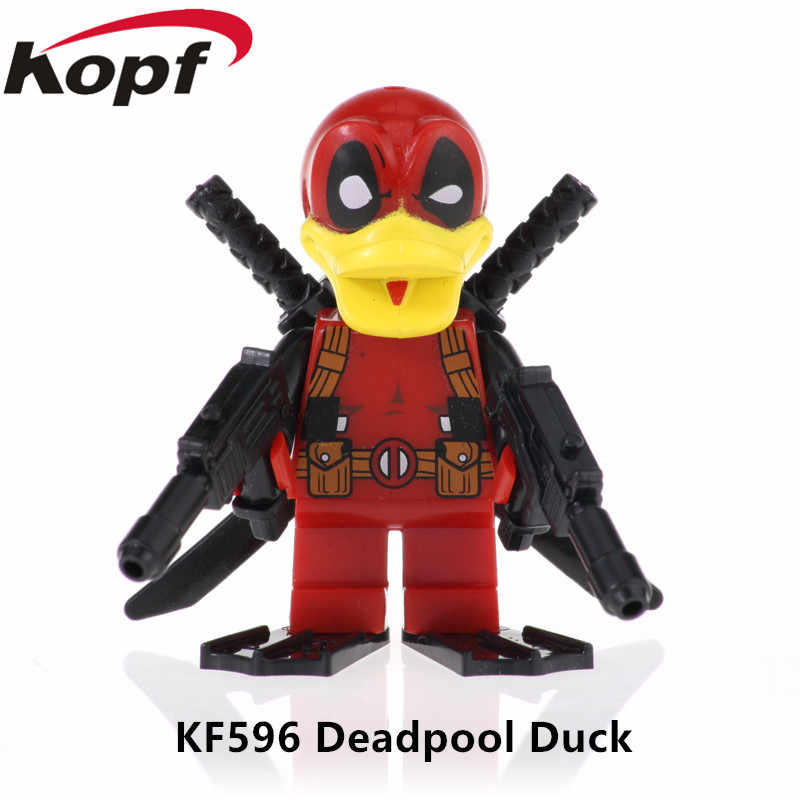 Single Sale Action Figures Super Heroes Deadpool Duck Shadow Building Blocks Education Gifts Toys For Children KF596