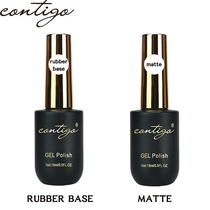 CONTIGO 15 мл гели для ногтей базовый слой Полупостоянный Гибридный гвоздь лак резиновое основание и лаки для ногтей Гель-лак для маникюра матов...