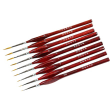 9Pcs/Set Miniature Paint Brush Kit Professional Sable Hair Fine Detail Art Model Tools MU8669