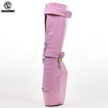 Jialuowei/пикантные женские сапоги; 18 см; высокие балетные сапоги до колена на танкетке; обувь унисекс