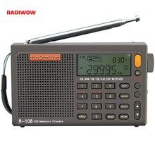 Radiwow SIHUADON R 108 FM ستيريو الرقمية راديو محمول وظيفة إنذار الصوت عرض ساعة درجة الحرارة المتكلم كهدية الوالدين
