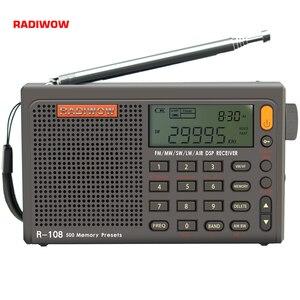 Image 1 - Radiwow Sihuadon R 108 Fm Stereo Digitale Draagbare Radio Geluid Alarmfunctie Display Klok Temperatuur Speaker Als Ouder Gift