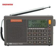 Radiwow sihuadon R 108 fm estéreo digital portátil rádio função de alarme som display relógio alto falante temperatura como presente dos pais