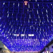 YINUO LIGHT 20/30/50cm Outdoor Meteor Shower Rain 8 Tubes LED String Lights Waterproof Fairy Light For Christmas Tree Decoration недорго, оригинальная цена