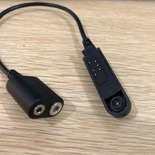 """Иди и болтай Walkie Talkie """"иди и аудио кабель-адаптер для Baofeng UV-XR UV-9R UV-9R плюс для K Интерфейс 2Pin UV-5R гарнитура Порты и разъёмы"""