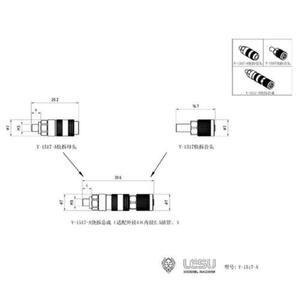 Image 5 - Lesu Metalen Buizen Olie Pijp Connector Voor 1/14 Diy Rc Tmy Dumper Truck Hydraulische Systeem TH16513
